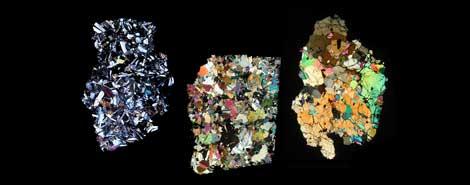 Tres ejemplos de silicios que proceden del Vesta. |NASA