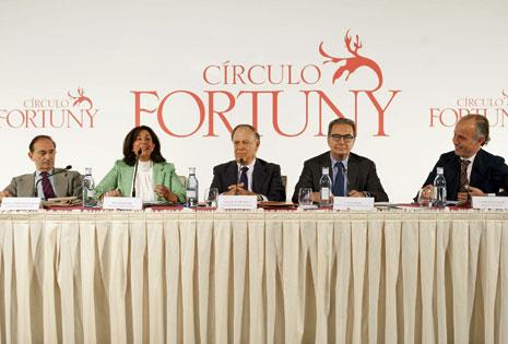 Los ponentes durante las conferencias sobre la marca España. | Círculo Fortuny