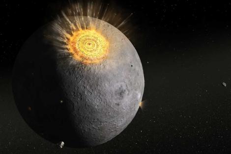 Recreación del impacto de un meteorito en la Luna.| Dan Durda/FIAAA