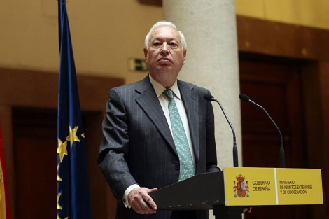 El Ministro de Exteriores, Jos Manuel Garca Margallo, en una rueda de prensa.| Efe