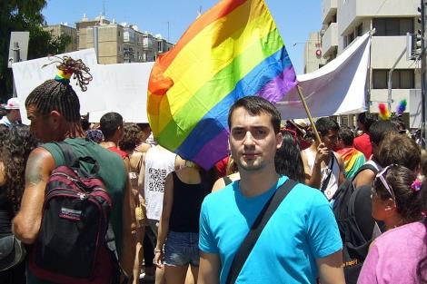 David Yabo Diaz, un español judío que vive con su marido en Israel.   Sal Emergui.