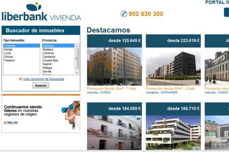 Nuevo portal del grupo, www.liberbankvivienda.es.