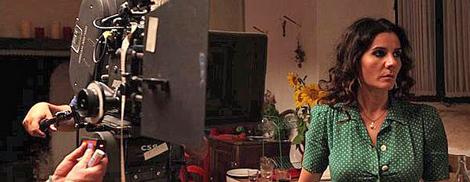 Diana Navarro durante el rodaje. | ELMUNDO.es