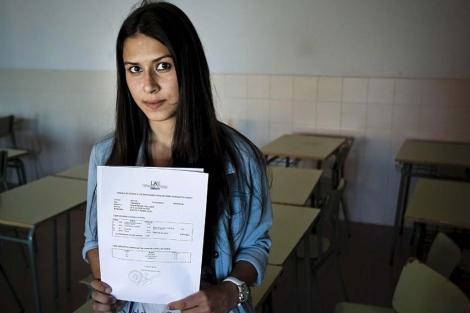 Lucía Cobarro, la nota más alta de Selectividad. | Efe