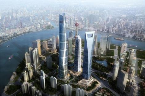 Panorámica del proyecto de la Torre de Shanghai (China) cuando esté terminada. | Gensler