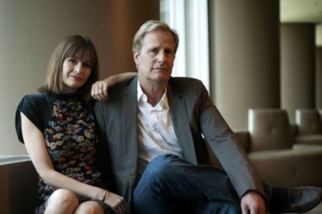 Emily Mortimer y Jeff Daniels en 'The Newsroom'. | Foto: Keith Bedford.