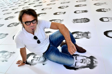 Bernard Roig durante la presentacin de 'Walking Faces'. | Alberto Vera