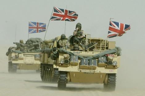 Tropas del ejército británico desplegadas en Oriente Próximo. | Ap