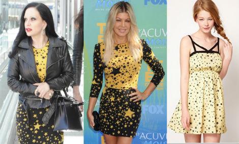 Alaska y Fergie comparten vestido, de Dolce & Gabbana. Propuesta similar, de Dahlia (40,73 e).
