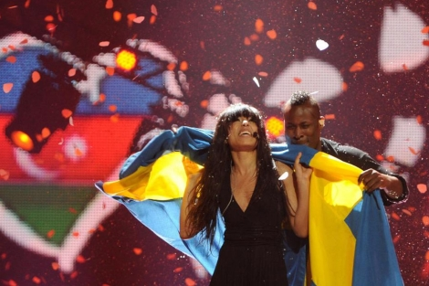 La representante sueca Loreen, celebra su triunfo en Bak, este ao. | Afp
