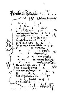 Poema de Rafael Alberti.