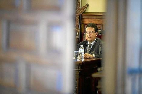 El juez Serrano, durante un juicio. | Jesús García Hinchado