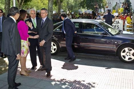 Gallardón, en la nueva sede del Tribunal de Justicia de Castilla y León. | Santi Otero/Efe