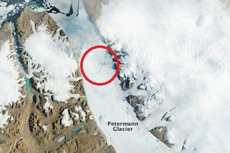 La grieta que se formó antes del desprendimiento. | NASA