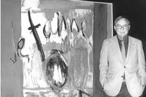 El pintor Robert Motherwell.| Fundaci�n Juan March.