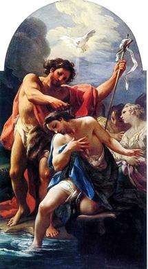 'El bautismo de Cristo', de Corrado Giaquinto