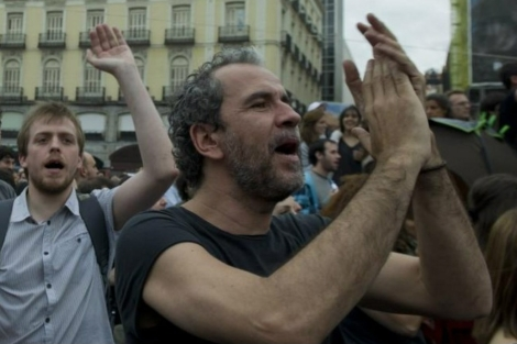El actor Willy Toledo durante una manifestaci�n. | Gonzalo Arroyo