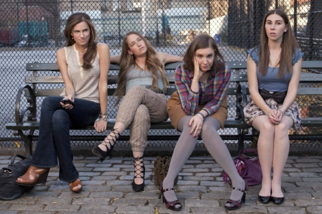 Allison Williams, Jemima Kirke Lena Dunham y Zosia Mamet..