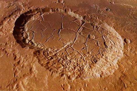 Visión de los cráteres Sigli y Shambe | ESA