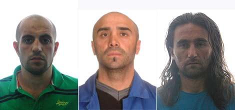Los tres detenidos en la operación de la Policía.