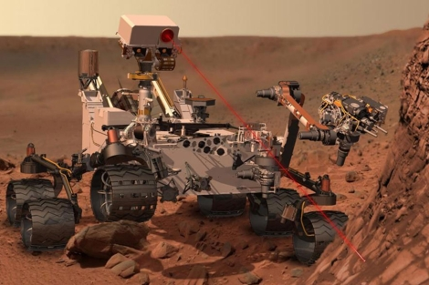 Recreaci�n del rover 'Curiosity' sobre la superficie de Marte. | NASA