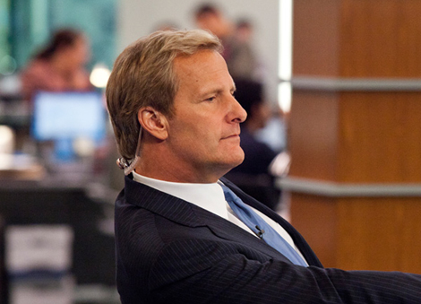 Jeff Daniels protagoniza la serie de HBO 'The Newsroom'.