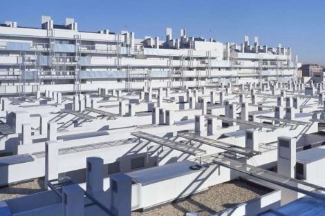 Promoción de 141 viviendas donde se ha usado acero galvanizado en Carabanchel (Madrid).