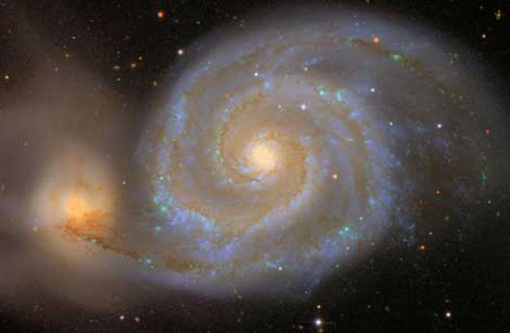 La galaxia espiral 'Messier 51'. | The Sloan Digital Sky Survey/Robert Lupton