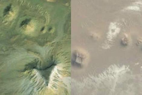 Las imágenes que proporciona Google Earth.