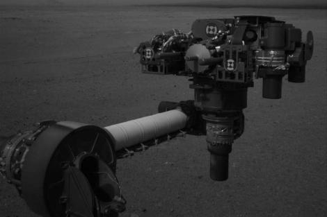 El brazo robótico del robot Curiosity.   NASA