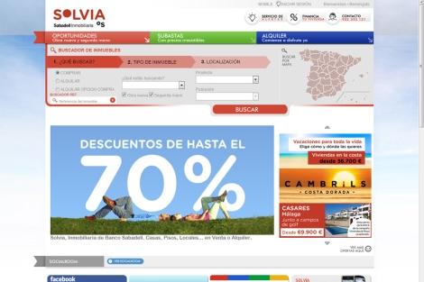 Portal inmobiliario del Banco Sabadell. | E M