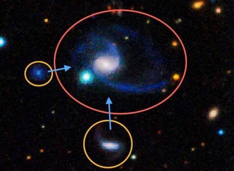 La imagen muestra uno de los sistemas iguales a la Vía Láctea. | ICRAR