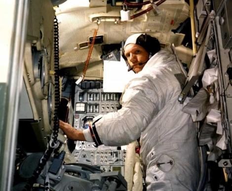 Armstrong, en un entrenamiento previo a la misión 'Apolo 11'. | Afp
