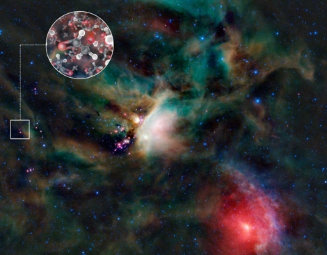 Molecula de azcar detectada por el telescopio ALMA. | ESO