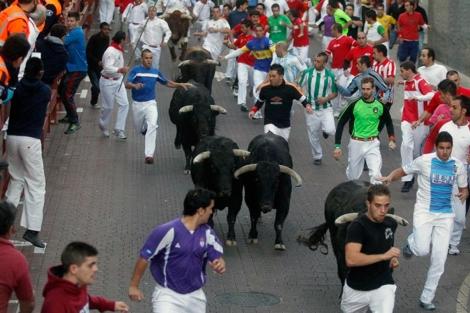 Penúltimo encierro en San Sebastian de los Reyes sin incidencias. | Javier Barbancho.