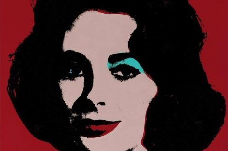 El cuadro 'Liz número cinco', obra de Andy Warhol.