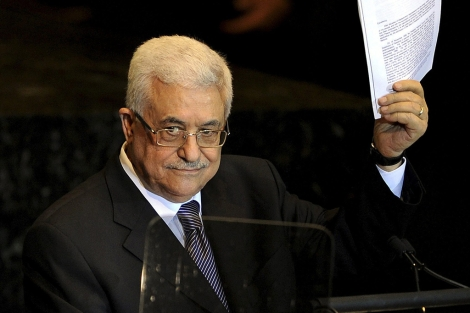 Abu Mazen durante la intervencin en la ONU en septiembre de 2011. | E.M.