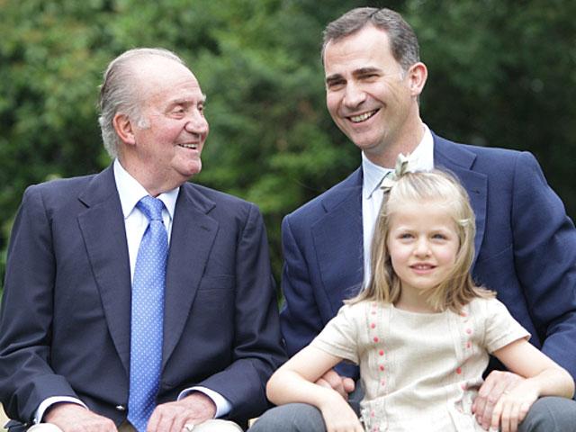 El Rey Juan Carlos, el Príncipe Felipe y la Infanta Leonor. | Foto: Casa Real