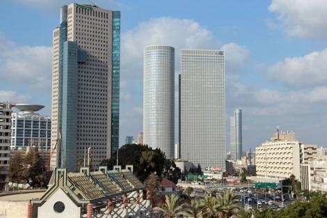 Las emblemáticas Torres Azrieli de Tel Aviv.| Ricky Ben- David.