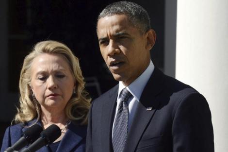 Obama y Clinton en rueda de prensa para explicar el atentado. | Efe