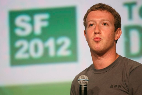 Mark Zuckerberg, en una conferencia en el TechCrunch Disrupt. | AFP
