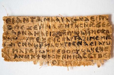 El papiro que atribuye a Cristo la frase 'mi mujer'. | AFP/ Harvard/Karen L. King