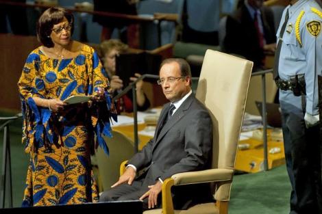 El presidente de Francia, François Hollande, antes de comparecer en la Cámara. | Afp
