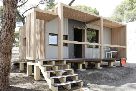 La casa 'Garnica' de Modulab, una de las que se exponen fuera de concurso. | ELMUNDO.es
