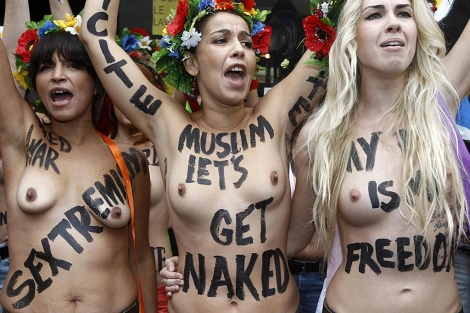 Integrantes del grupo Femen.| Reuters/Jacky Naegelen