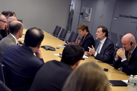 Mariano Rajoy, durante la entrevista que concedió al 'Wall Street Journal'. | Efe