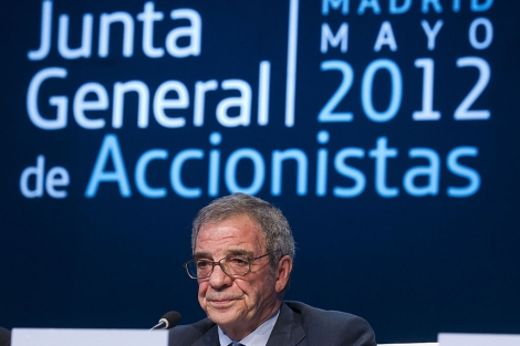 César Alierta, presidente de Telefónica, en la última Junta de Accionistas. | Alberto Cuellar