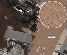 Trozos de metal detectados por el rover