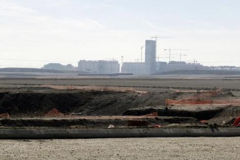 Terrenos de uno de los nuevos desarrollos que crecen en Madrid. | EM