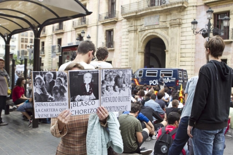 Manifestacin de los estudiantes ante el TSJ de Valencia. | Vicent Bosch